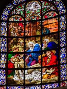 vitrail chapelle vierge